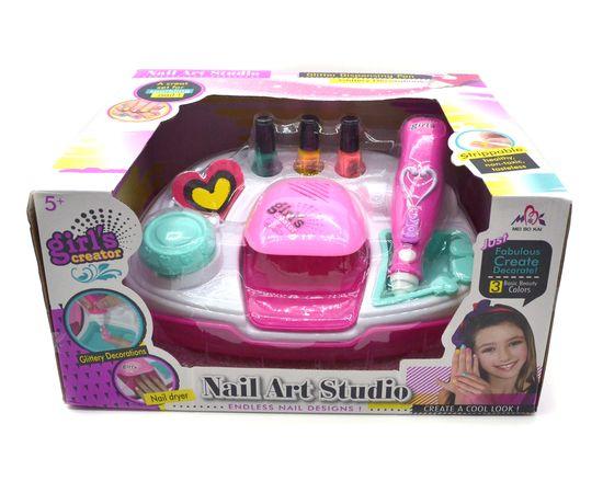 Купить Большой маникюрный детский набор для девочек с сушкой - Nail Art Studio, Игрушки для девочек