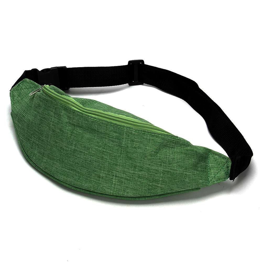 Сумка поясная молодежная, в ассортименте, зеленый