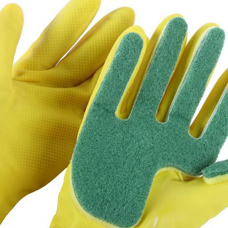 Перчатки с губкой для мытья посудыДля мытья посуды<br>За мытье посуды отвечаете вы? Маникюр постоянно страдает, а кожа рук становится все менее упругой из-за контакта с моющими средствами? Перчатки с губкой для мытья посуды – это находка для каждой женщины, ведь обеспечат вам безопасность, а посуде – идеальную чистоту!<br>