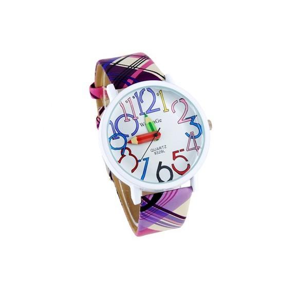 Женские часы Художник WOMAGE - фиолетовыеЖенские часы<br>Женские часы Художник WOMAGE фиолетового цвета – это яркий и солнечный аксессуар, который понравится представительнице прекрасного пола в любом возрасте!<br>