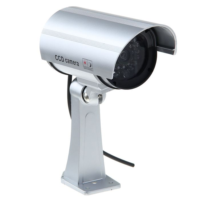 Муляж видеокамеры LuazON VM-2, со светодиодным индикатором, серый