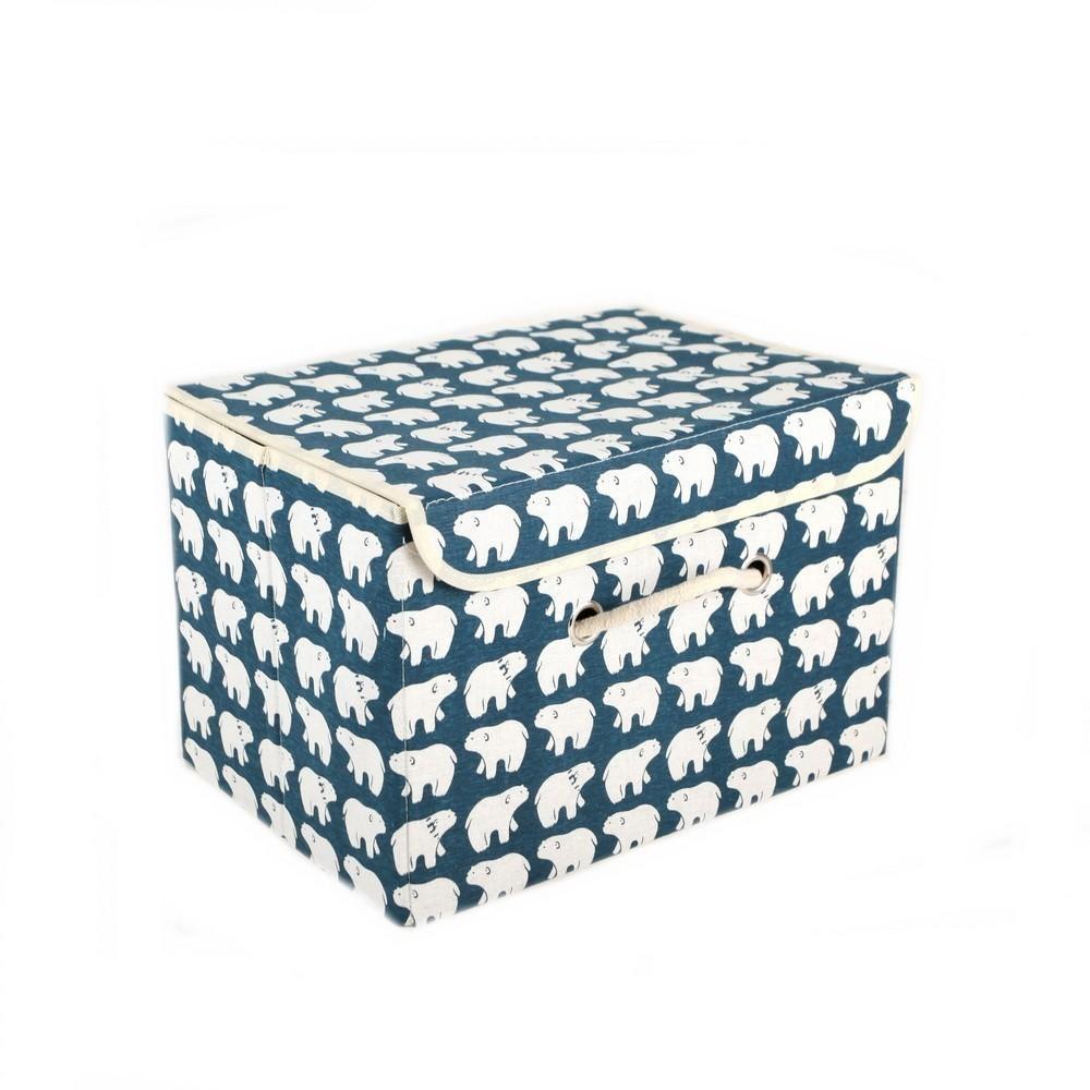 Короб для хранения - Северные мишки, с крышкой, 25х20х17 см