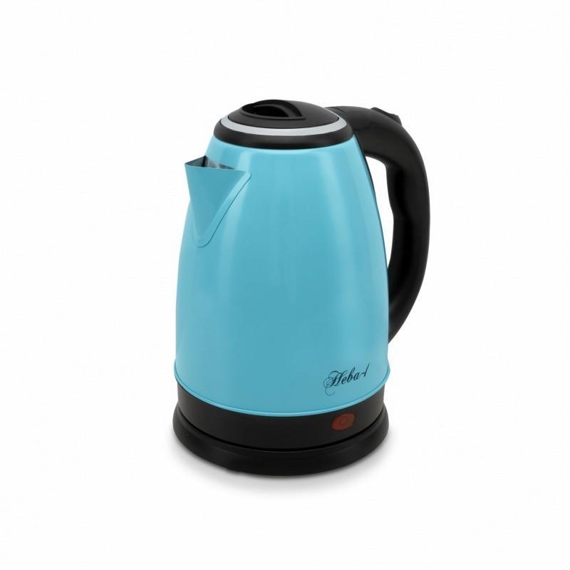 Чайник электрический Великие Реки Нева-1, голубой цвет, мощность 1500 Вт, объем 1,8 л