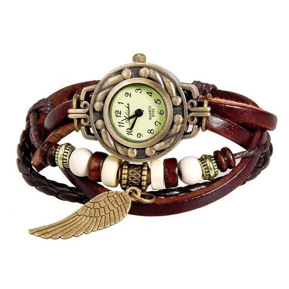 WOMAGE 630 модные женские часы браслет, Коричневый