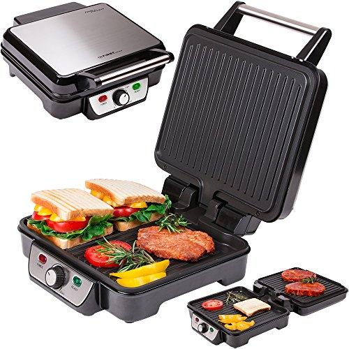 Электрогриль-пресс FIRST, 1800 Вт, 2 плиты-гриль с антипригарным покрытием FA-5343-2 BlackГрили<br>Электрогриль-пресс First FA-5343-2 - универсальный помощник на вашей кухне.<br>
