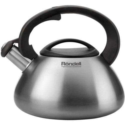 Чайник  Rondell 3 литра RDS-087Чайники металлические<br>Преимущества данной модели: Бакелитовый свисток со стальной сердцевиной и устройством для открывания носика на ручке. Возможность налива воды одной рукой<br>