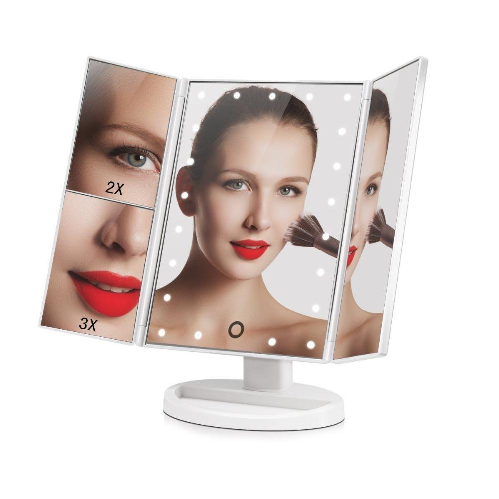 Зеркало косметическое с LED-подсветкой трехстворчатое Superstar Magnifying Mirror, белый