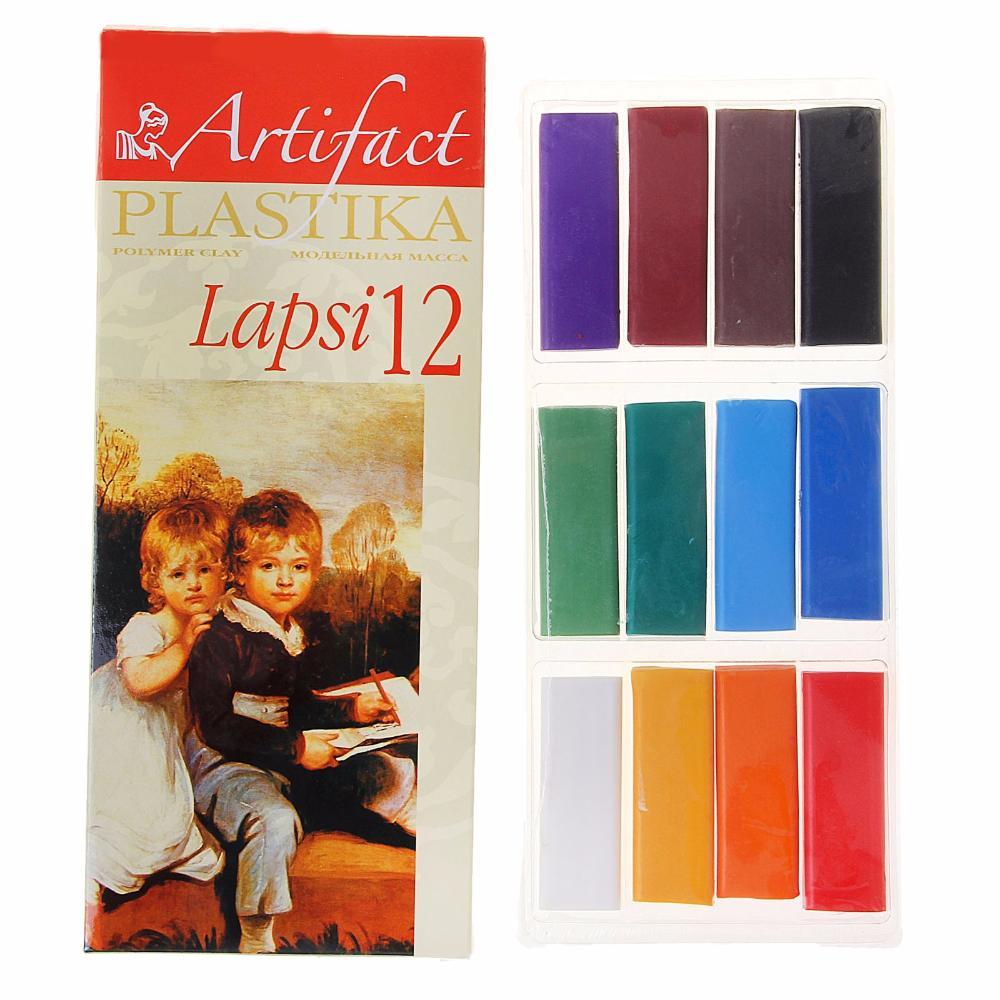 Пластика - полимерная глина набор LAPSI 12 классических цветов, 240г