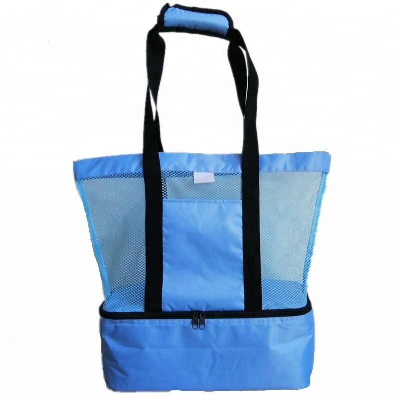 Складная пляжная сумка-холодильник, голубой