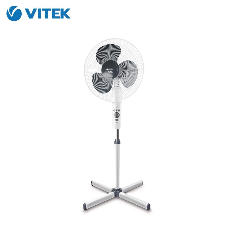 Вентилятор напольный Vitek 45 Вт с пультом ДУ VT-1949(W)Вентиляторы<br>Создать легкую прохладу в любом помещении вам поможет вентилятор напольный Vitek VT-1949. Несколько скоростей вращения лопастей, возможность изменения потока воздуха и наклона вентилятора - все это позволит вам отрегулировать работу устройства так, как это нужно!<br>