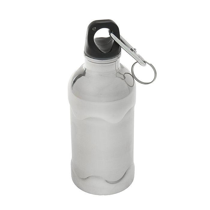 Фляжка-бутылка с карабином, 350 млФляжки и канистры<br>Фляжка-бутылка с карабином станет настоящей находкой для рыбака, туриста или просто человека, который часто бывает вдали от дома. Вы сможете в любой момент взбодриться любимым напитком. А цена на фляжку с карабином приятно удивит вас в интернет магазине Мелеон!<br>