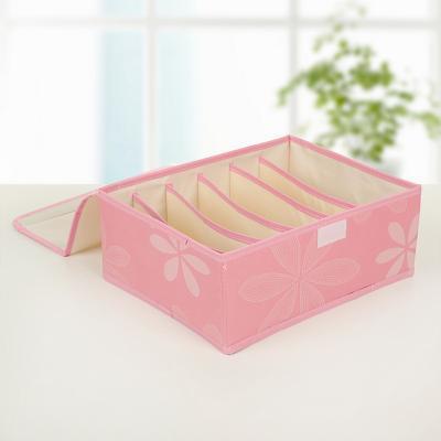 Короб для хранения вещей с 6-ю секциями, 31х24х12 см, розовый