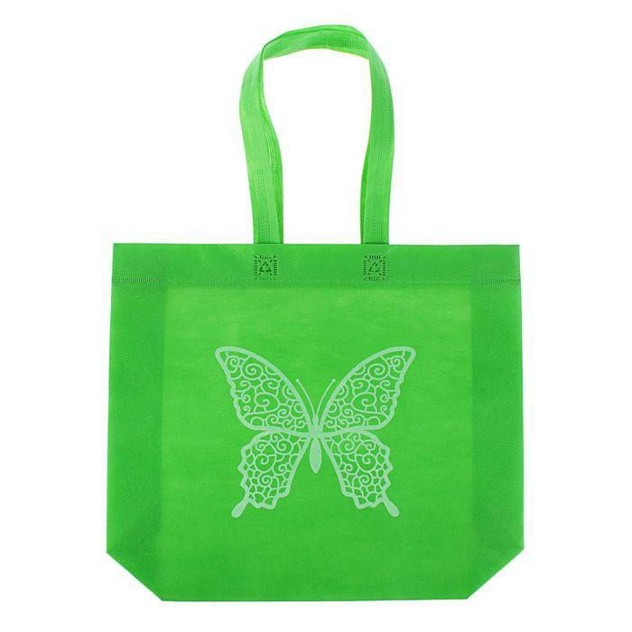 Сумка из нетканного материала - Эко, 30х42х5 см, зеленыйСумки и рюкзаки<br>Сумка из нетканого материала «Эко» станет настоящей находкой для женщин, которые не любят ходить на шопинг с неудобными пакетами, которые в самый неподходящий момент рвутся или просто натирают пальцы. Посмотрите полезное и стильное изобретение.<br>