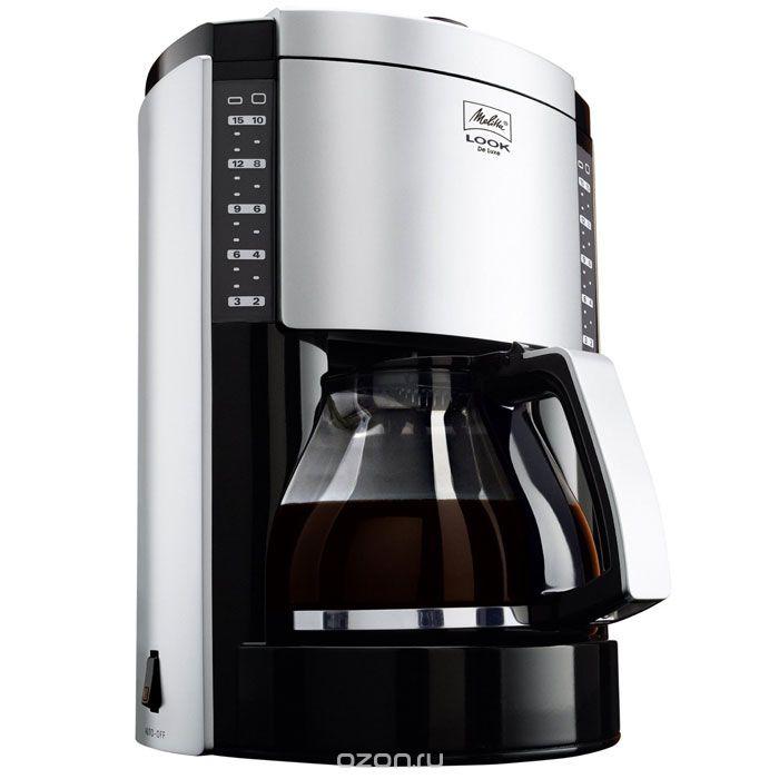 Кофеварка Melitta Look IV Therm Basic белаяКофеварки и кофемашины<br>Кофеварка Melitta Look IV Therm Basic ? великолепное решение для истинных поклонников крепкого бодрящего напитка. Простая, но максимально удобная конструкция прибора позволит вам без труда приготовить около 8-12 чашек натурального кофе, который подарит вам бодрость на целый день.<br>