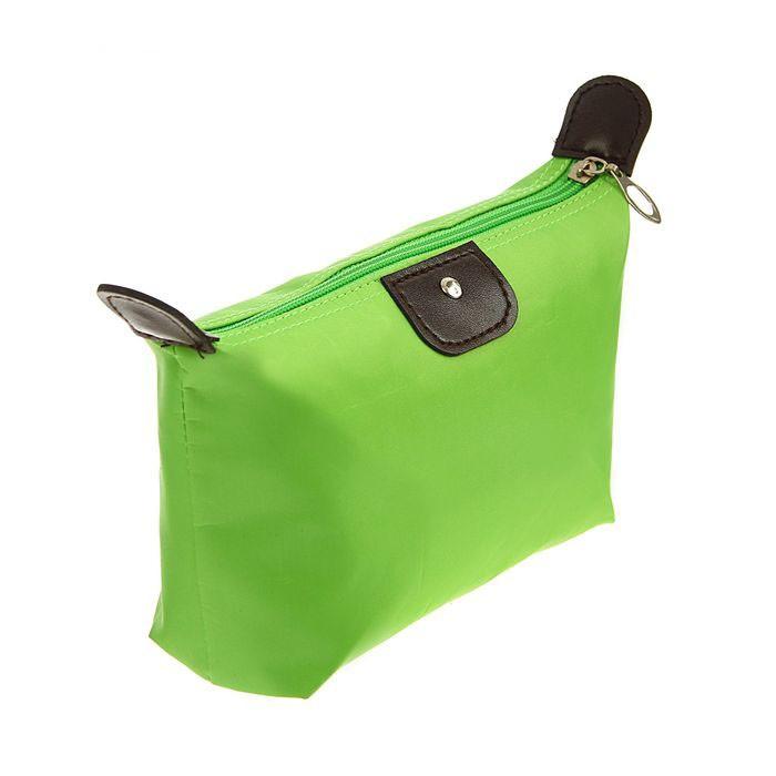 Косметичка-сумочка на молнии, 17х12х7 см, цвет зелёный