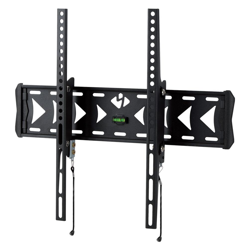 Кронштейн kromax 4-FLAT FLAT-4 blackКронштейны<br>Настенный наклонный кронштейн FLAT-4 - долгожданная новинка в линейке кронштейнов Flat для LCD\LED-телевизоров и плазменных панелей с диагональю от 26 до 55 дюймов. Является элегантным дополнение к Вашему современному плоскому телевизору. Позволяет разместить его на минимальном расстоянии от стены (66 мм), при этом создать угол наклона до 15°, что даёт возможность устранить блики на экране и обеспечить комфорт и удобство при просмотре. Максимальные посадочные отверстия по горизонтали - 400 мм, по вертикали - 400 мм.<br>