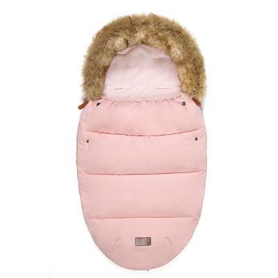 Купить Тёплый меховой конверт с опушкой Dearest от 0 до 2х лет, Розовый, Товары для новорожденных
