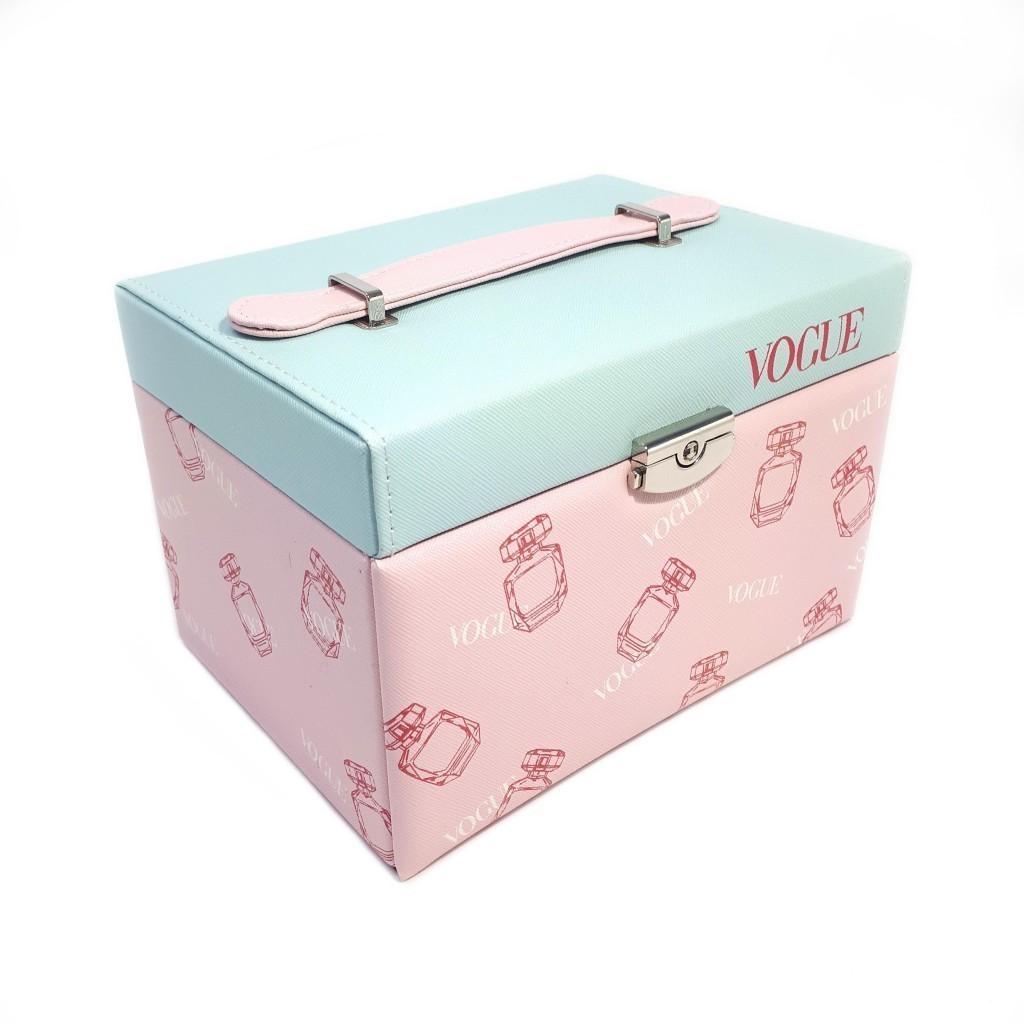 Шкатулка для ювелирных изделий Сундучок Vogue, 20х15х14 см, голубой