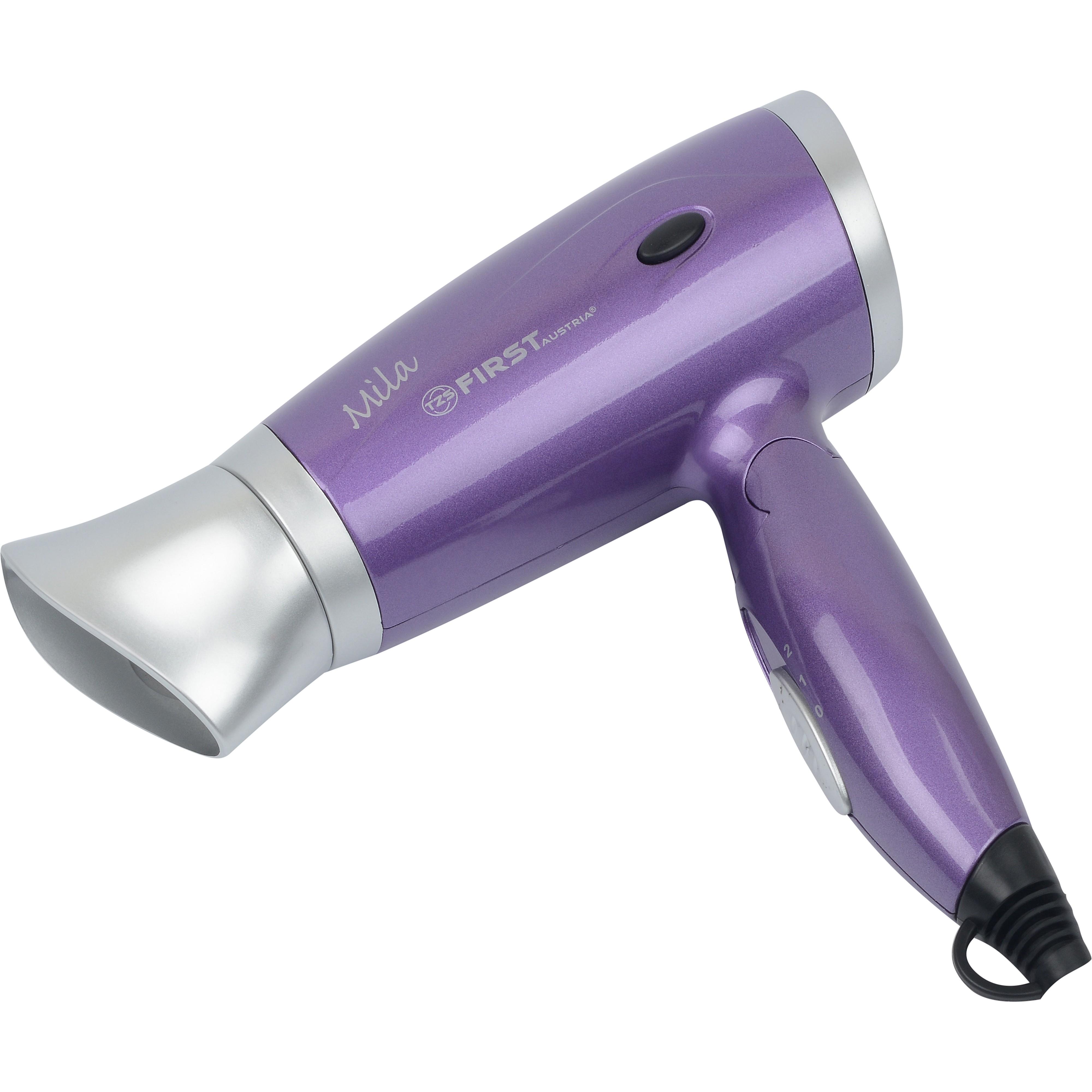 Фен FIRST 5666-3 PurpleДля сушки волос<br>Фен First FA-5666-3 - одно из самых удобных компактных устройств для сушки волос. Фен позволяет быстро и качественно высушить волосы, сделать укладку, придать волосам объем.Благодаря складной ручке устройство становится мобильным и очень удобным для перевозки.<br>