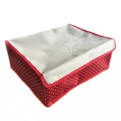 Складной кофр для хранения вещей с ячейками, 32х26х12 см, красный