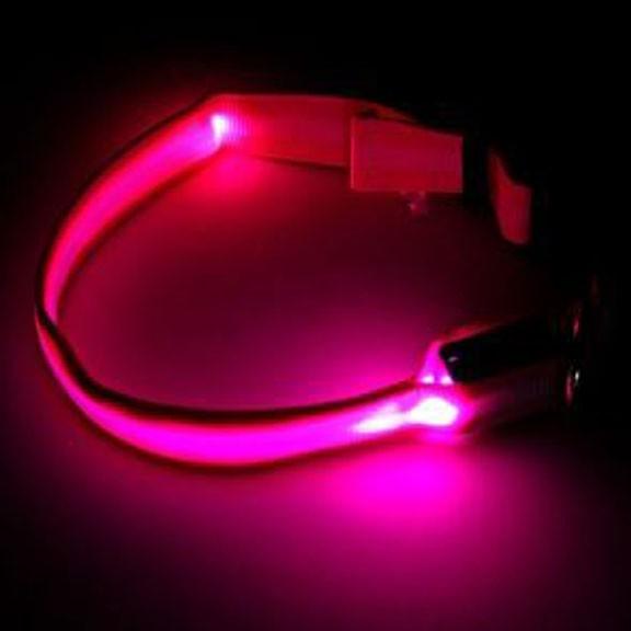 Светящийся ошейник - 40-45 см - розовый от MELEON