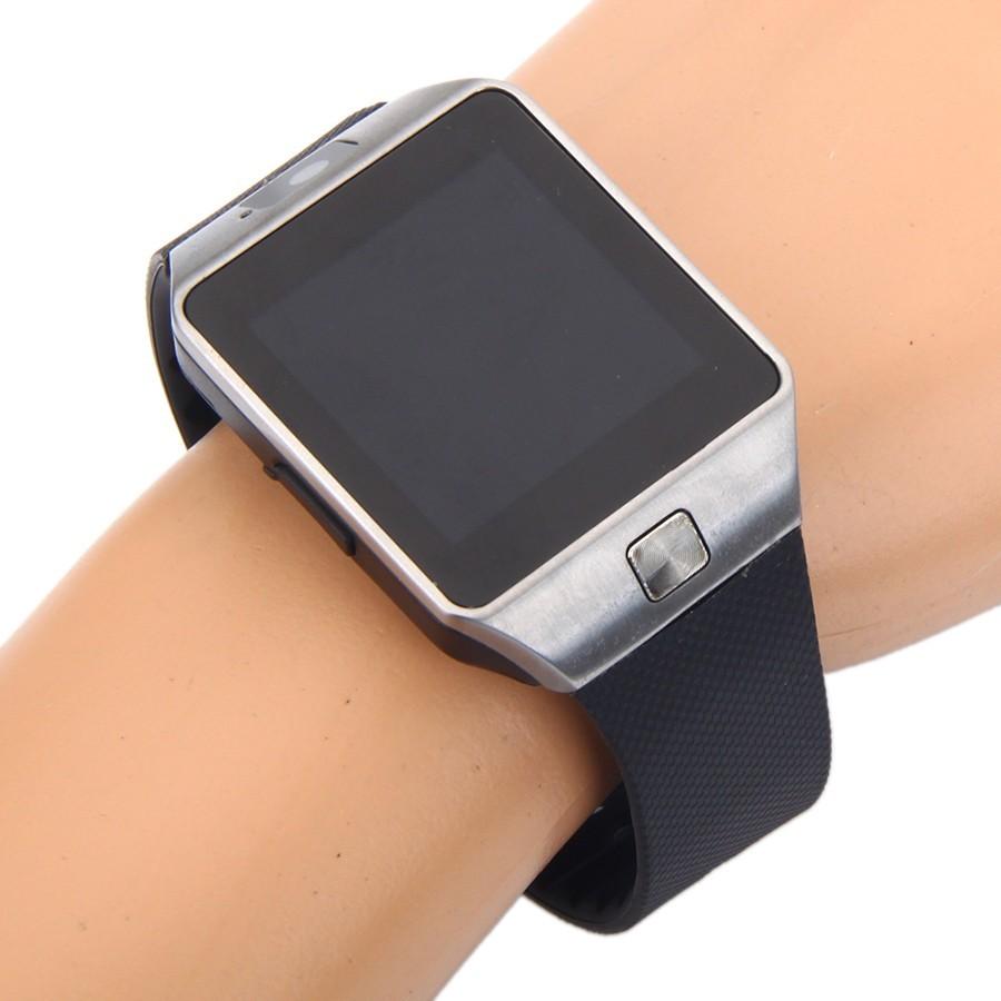 Умные часы DZ09 - Smart Watch DZ-09 - серебро, черный ремешок