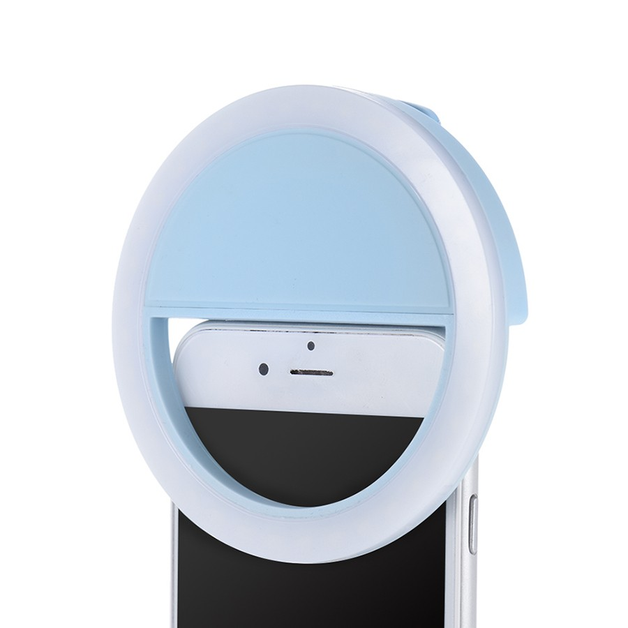 Селфи кольцо - Selfie Ring Light от USB, голубое