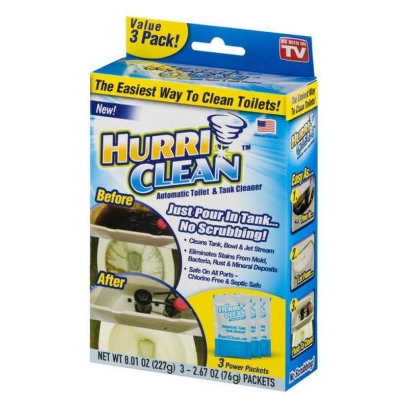 Пенящийся очиститель для унитаза Hurri Clean, 3 пакета фото