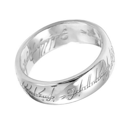 Кольцо Всевластия, цвет серебро, размер 8Из фильмов и сериалов<br>Стильное кольцо с эльфийскими письменами, с благородным оттенком белого золота можно носить с собой, как символ таинства и независимости. Лишь посвященные смогут узнать тайну Кольца!<br>