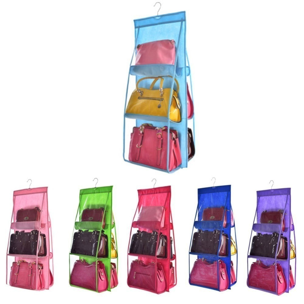 Органайзер подвесной для сумок Hanging Organize, 6 секций, фиолетовый