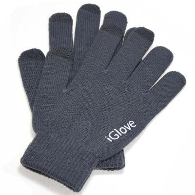 Купить со скидкой Перчатки iGlove для работы с емкостными экранами (цвет серый)