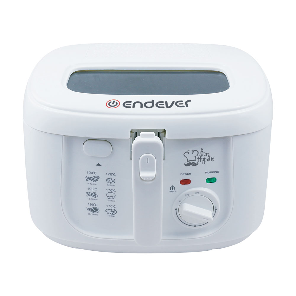 Фритюрница электрическая Endever Skyline 111-FR, белый