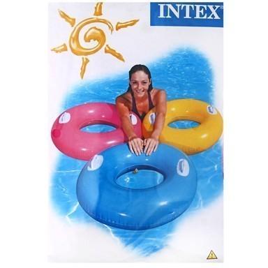 Круг для плавания с ручками 76см от 8летДля отдыха на воде<br>С надувным кругом Ваш малыш, ещё не умеющий плавать, будет легко держаться и резвиться в воде!<br>