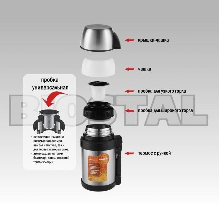 Термос 1 л. Biostal-Спорт 1000NGP-P NGP-1000-P от MELEON
