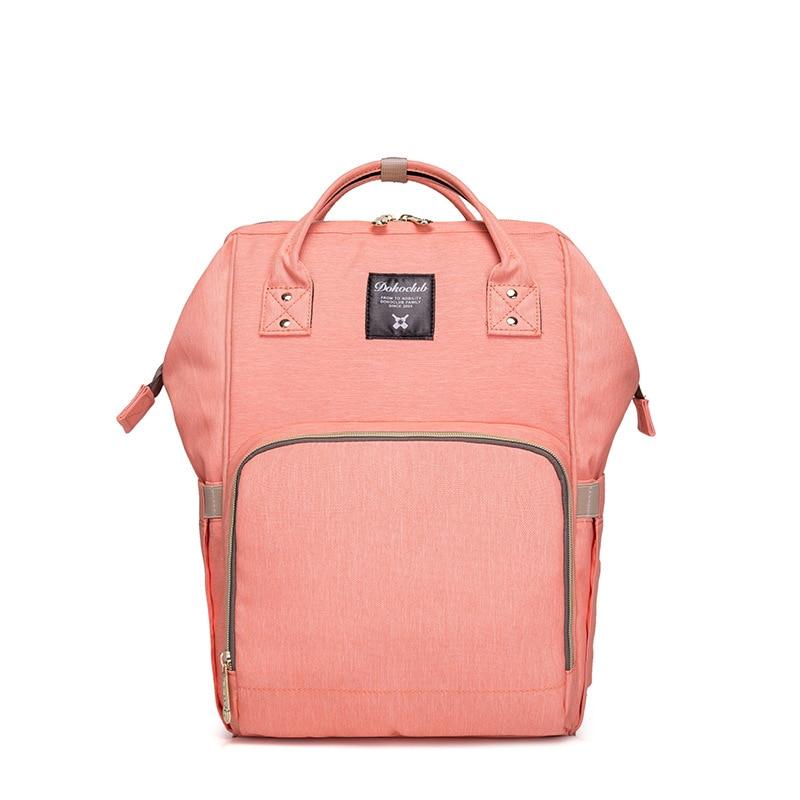 Сумка-рюкзак для мамы Baby Mo с USB, цвет в ассортименте, розовый