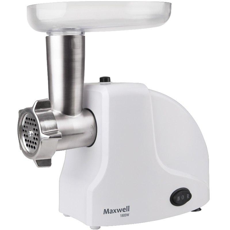 Мясорубка Maxwell MW-1263(W)Мясорубки<br>Мясорубка от Maxwell — это многофункциональное устройство мощностью 1800 Вт