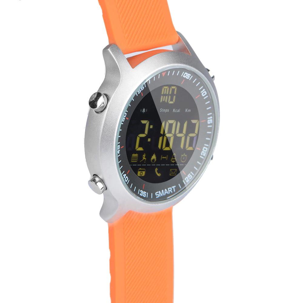 Умные часы xwatch EX18 силикон, Оранжевый фото