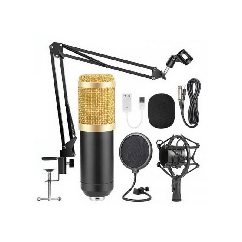 Студийный микрофон Professional Condenser Microphone BM-800, черный