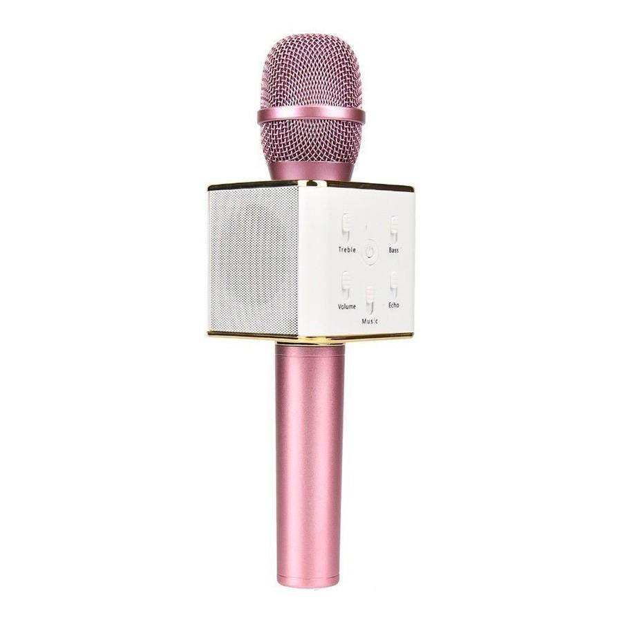 Беспроводной караоке микрофон Tuxun Q7 — Розовый