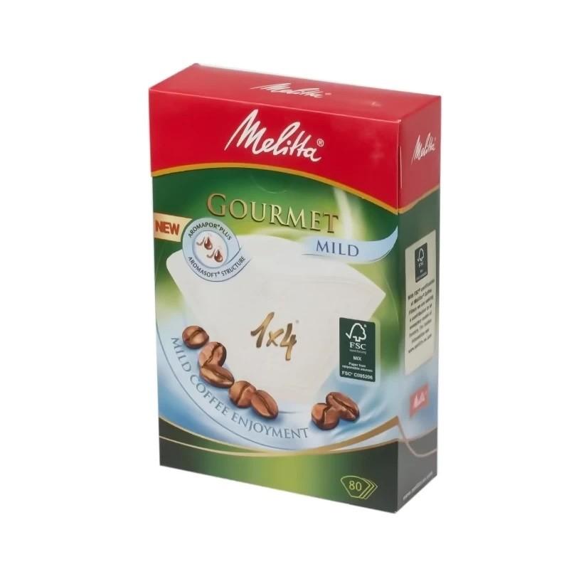 Фильтры бумажные для заваривания кофе 1х4 Гурмэ Милд Melitta 100971 фото