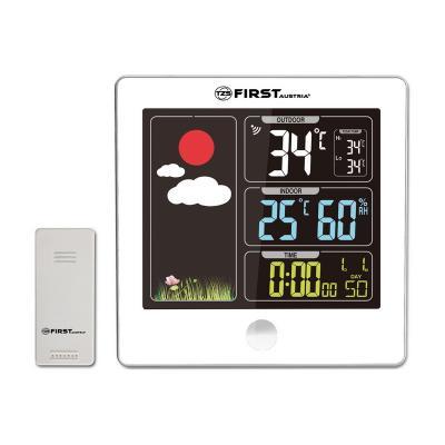 Метеостанция First FA-2460-5-WI, цветной LED-диспл., беспроводной датчик, измерение уличной/комнатной температуры фото