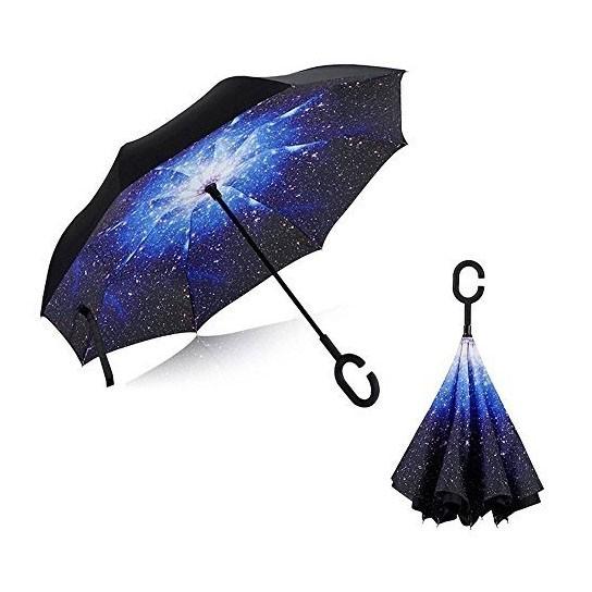 Ветрозащитный антизонт Up-brella, звездная ночьЗонты<br>Живете в регионе, где часто пасмурно? Если вам наскучили неудобные зонты, то вы просто не слышали ничего о конструкции, которая вот уже несколько лет уверенно завоевывает сердца людей в других странах. Это – ветрозащитный зонт Up-brella.<br>