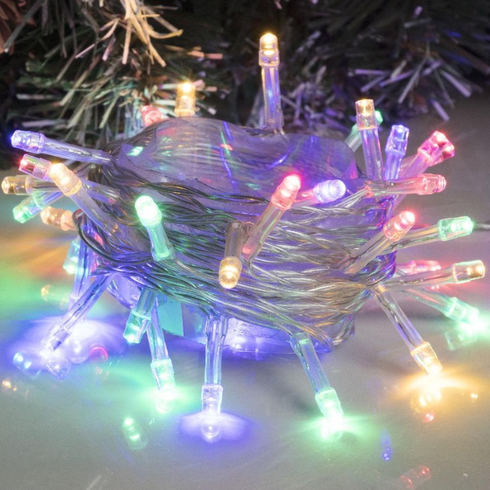 Гирлянда — Нить, 5 м, LED-50-220V, 8 режимов, нить прозрачная, мультицвет