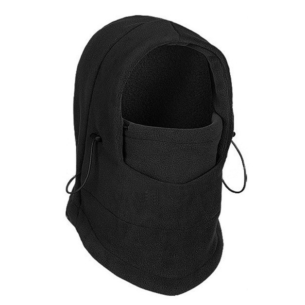 Флисовая шапка маска - чернаяМаски<br>С трудом переносите холод и уже не знаете, как согреться на улице? Посмотрите по суперцене флисовую шапку маску темно серого цвета. Стильный аксессуар для мужчин прекрасно подойдет к любому образу, а главное – обеспечит максимум тепла в любых условиях!<br>