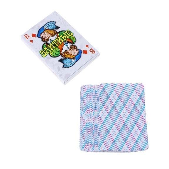 Карты игральные Элитные, 36 штДанная колода - классическая по дизайну и формату, имеет традиционную клетчатую рубашку, карты изготовлены из глянцевого (атласного) картона.<br>