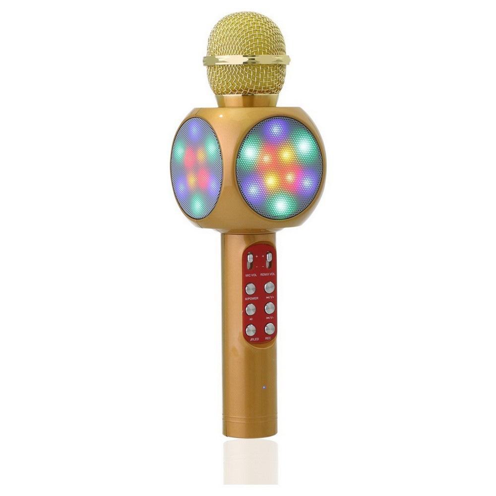 Колонка с функцией микрофона караоке WSTER WS-1816 коричневый