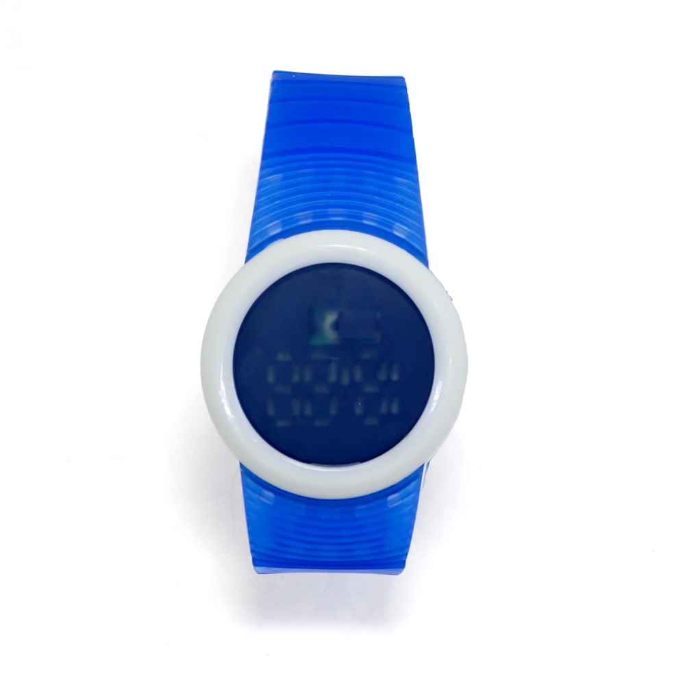Ультратонкие силиконовые LED часы Nexer G1218, Синий