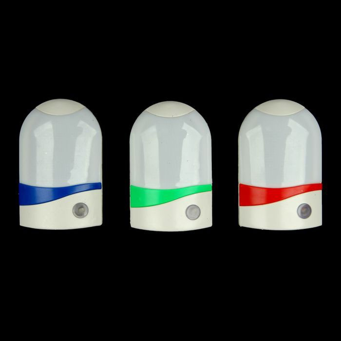 Ночник с датчиком света - Маленький робот, цвет микс