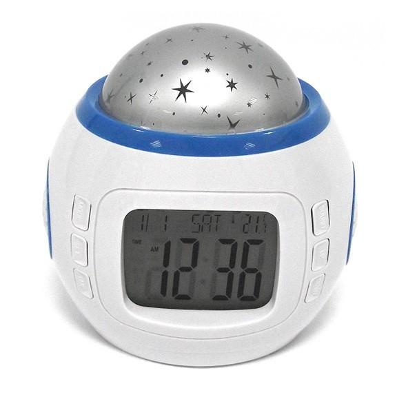 Часы будильник с проектором звездного небаРадиочасы и будильники<br>Какие картины перед сном расслабят каждого человека, позволят забыть о проблемах и немного помечтать? Конечно же, бездонного звездного неба! А вы знаете, что теперь каждый вечер сможете любоваться этим волшебством прямо в собственной спальне? Такую возможность предоставляет вам часы-музыкальный проектор звездного неба, который можно купить в интернет магазине Мелеон по весьма доступной цене!<br>