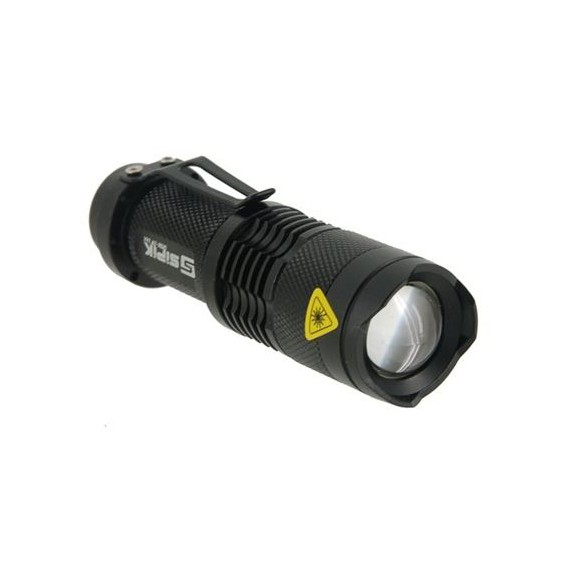 Компактный мощный фонарь с зумом Sipik SK68